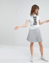Плиссированная юбка с принтом котов на поясе Paul & Joe Sister