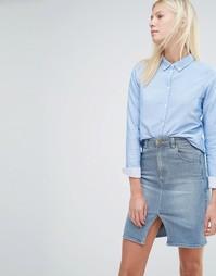 Приталенная рубашка Vero Moda - Кашемировый синий