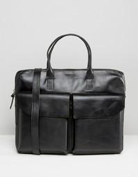 Черная кожаная сумка с двумя карманами Royal RepubliQ - Черный