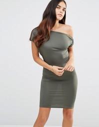 Платье с открытыми плечами TFNC - Хаки