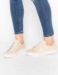 Кожаные кроссовки телесного цвета со шнуровкой Vagabond Zoe - Телесный