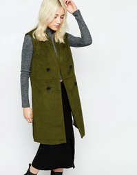 Куртка без рукавов в стиле милитари Neon Rose - Хаки