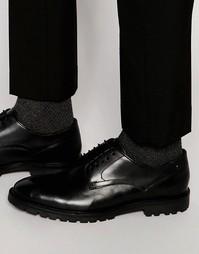 Кожаные туфли дерби Base London Barrage - Черный