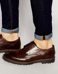 Кожаные туфли дерби Base London Barrage - Коричневый