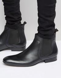 Кожаные ботинки челси ASOS - Черный Base London