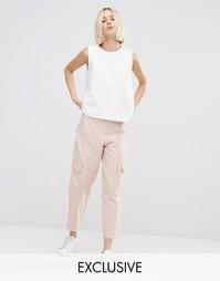 Комбинируемые брюки в стиле милитари House Of Sunny - Яркий розовый