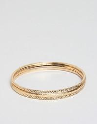 Набор из 3 браслетов ASOS - Золотой