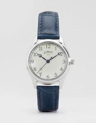 Часы с темно-синим ремешком в стиле крокодиловой кожи Limit