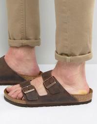 Кожаные сандалии Birkenstocks Arizona - Коричневый