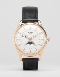Часы с индикатором даты и фаз Луны Henry London Richmond - Черный