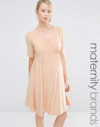 Платье для беременных и кормящих мам с запахом Bluebelle Maternity