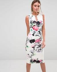 Платье-футляр с цветочным принтом Coast Lecce - Мульти