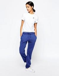 Спортивные брюки слим Le Coq Sportif - Кобальтово-синий