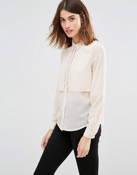 Двухслойная рубашка с длинными рукавами Vero Moda - Plain ivory