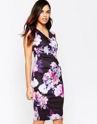 Платье-футляр с запахом и цветочным принтом Jessica Wright Erin