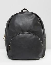 Рюкзак с двойной молнией ASOS - Черный