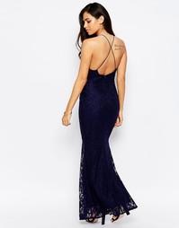 Кружевное платье макси с открытой спинкой Jessica Wright Lilian