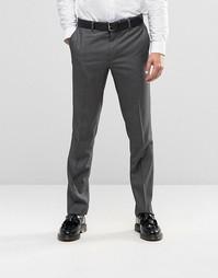 Суперзауженные брюки в ломаную клетку Farah - Светло-серый