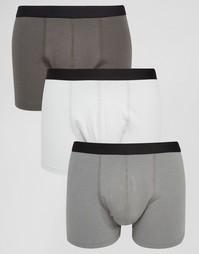 Набор из 3 серых боксеров-брифов ASOS - СКИДКА 20% - Monochrome