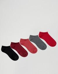 5 пар сливовых носков‑подследников ASOS - Мульти