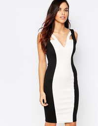 Черно-белое платье‑футляр Jessica Wright