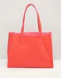 Сумка-шоппер со съемным клатчем ASOS - Красный