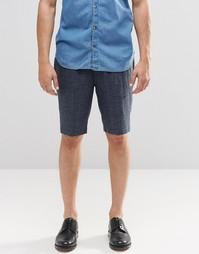 Темно-синие удлиненные строгие шорты в крапинку ASOS - Темно-синий