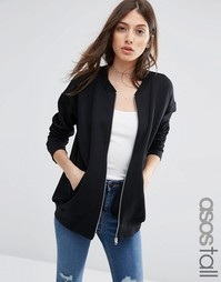 Трикотажная куртка-пилот ASOS TALL The Ultimate - Черный
