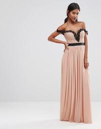 Платье макси Rare London - Mink