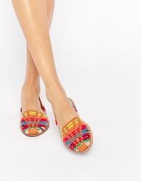 Плетеные туфли на плоской подошве Glamorous - Разноцветный