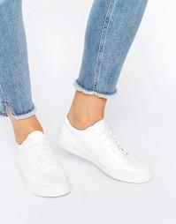 Белые лакированные кроссовки Glamorous - Белый лакированный