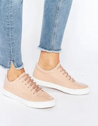 Розовые лакированные кроссовки Glamorous - Пыльно-розовый лакированный