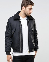 Черная куртка‑пилот с воротником борг ASOS - Черный