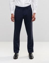 Темно-синие брюки слим с 5 карманами ASOS - Темно-синий
