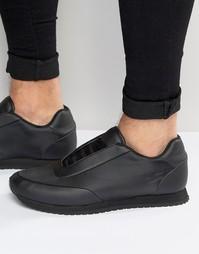 Черные нейлоновые кроссовки ASOS - Черный