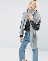 Длинный мягкий шарф ASOS - Серый
