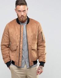 Светло-коричневая куртка из искусственной замши ASOS - Рыжий