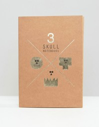 Skulls Notebook Set In 3 Pack - Мульти Gifts