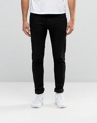 Черные облегающие джинсы с покрытием Antioch - Черный