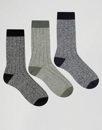 Набор из 3 пар толстых носков ASOS - Мульти