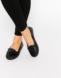 Туфли на плоской подошве ASOS MASTER - Черный мятый