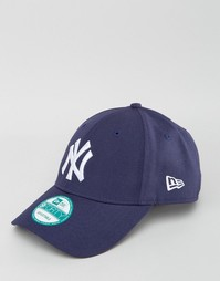 Шерстяная кепка New Era 9Forty - Темно-синий