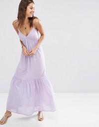 Ярусное пляжное платье макси ASOS - Сиреневый