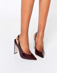 Остроносые туфли на каблуке ASOS PICCADILLY - Темно-бордовый