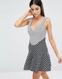 Платье Stylestalker Chronicle - Принт в клетку-решетку
