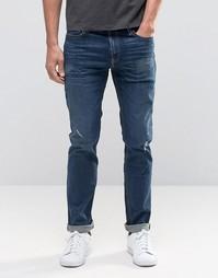 Темные джинсы скинни Hollister - Темный синий
