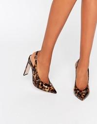 Остроносые туфли на каблуке ASOS PICCADILLY - Черепаховый