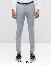 Супероблегающие брюки строго кроя в крапинку Noose & Monkey