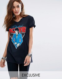 Черная футболка Reclaimed Vintage Bowie - Черный