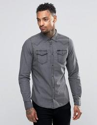 Светлая джинсовая рубашка в стиле вестерн Diesel New-Sonora-E